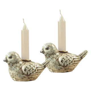 Sterling Mini Bird Candle Holders   DO NOT USE