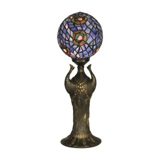 Dale Tiffany Globe Peacock Replica Table Lamp   Tiffany Table Lamps