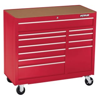 Waterloo 41 in. Red 11 Drawer Cabinet   Tool Chests & Cabinets