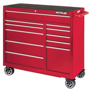 Waterloo Professional 41 in. Red 11 Drawer Cabinet   Tool Chests & Cabinets