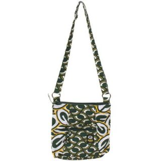 Green Bay Packers Ladies Big Logo Fabric Hipster Purse   Green