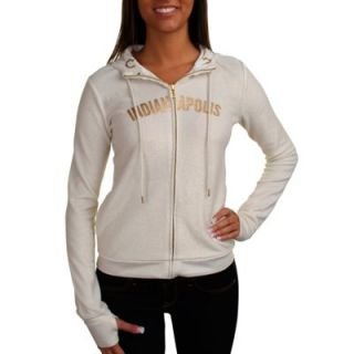 All Sport Couture Indianapolis Colts Ladies Play Action Full Zip Hoodie   Cream