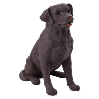 Sandicast Small Size Chocolate Labrador Retriever Sculpture   Garden Statues