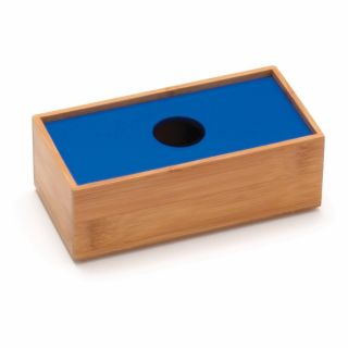 Lipper Bamboo 3 x 6 in. Organizer Box with Blue Cover   Office Desk Accessories