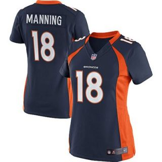 Nike Peyton Manning Denver Broncos Ladies Limited Jersey   Navy Blue