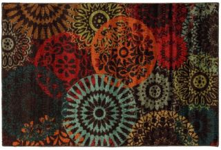 Mohawk Canvas Medgalia Dark Chocolate Rug   Area Rugs