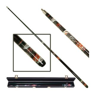 Casino Night Graphite Billiard Pool Cue Stick with Case   Pool Cues