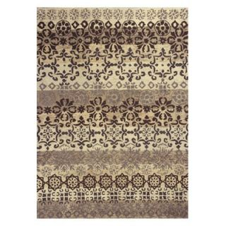 KAS Rugs Marrakesh 4512 Damask Area Rug   Ivory / Slate   Area Rugs