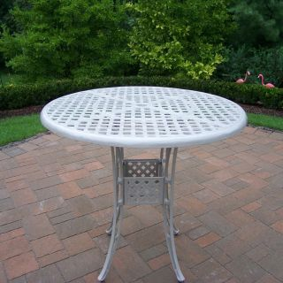 Oakland Living Elite Cast Aluminum 42 in. Bar Height Patio Dining Table   Beach Sand   Patio Tables