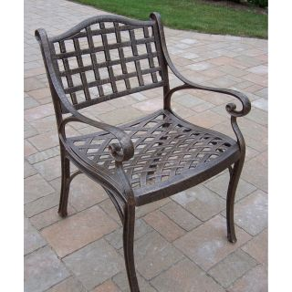 Oakland Living Elite Cast Aluminum Dining Arm Chair   Outdoor Dining Chairs