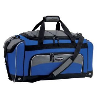 Travelers Club 24 in. Sport Duffel Bag with Wet Shoe Pocket   Navy/Black   Sports & Duffel Bags