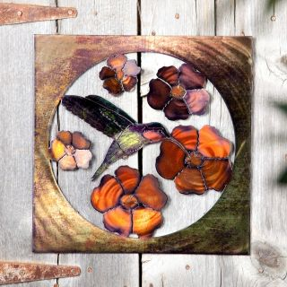 Hummingbird Indoor / Outdoor Light Reflective Wall Art   Outdoor Wall Art