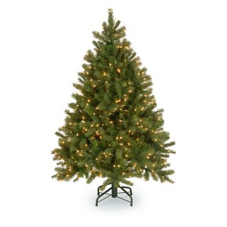 Feel Real Down Swept Douglas Fir Hinged Pre Lit Christmas Tree   Christmas Trees