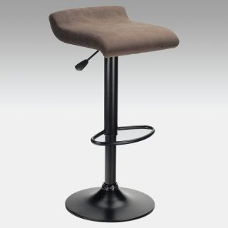 Winsome Adjustable Marni Air Lift Swivel Counter Stool in Charcoal Gray   Bar Stools