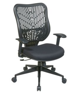 Office Star Unique Self Adjusting Raven SpaceFlex Back and Raven Mesh Seat Managers Chair with Adjustable Arms   Desk Chairs