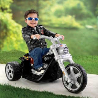 Fisher Price Battery Powered POWER WHEELS Harley Davidson Riding Toy Black   Battery Powered Riding Toys