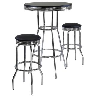 Winsome Summit 3 pc. Pub Table Set   Black   Pub Tables