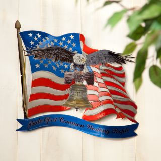 American Pride Indoor / Outdoor Light Reflective Wall Art   Outdoor Wall Art