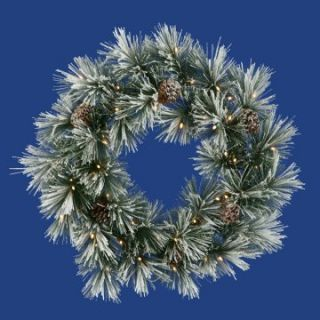30 Inch Pre lit Flocked Scotch Pine Wreath   Christmas Wreaths