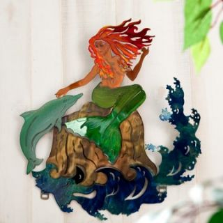 Mermaid Indoor / Outdoor Light Reflective Wall Art   Outdoor Wall Art