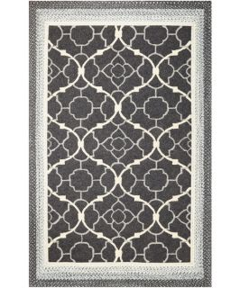KAS Rugs FAI5515 Fairfax Indoor / Outdoor Rug   Charcoal Filigree   Area Rugs