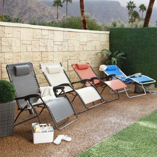 Coral Coast Extra Wide Quick Dry Zero Gravity Recliner   Outdoor Chaise Lounges