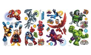 Marvel Super Hero Squad Peel and Stick Wall Decals   Wall Decals