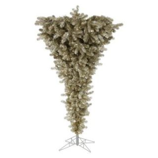 Vickerman 7.5 ft. Champagne Upside Down Christmas Tree   Christmas Trees