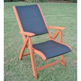 Royal Tahiti 5 Position Folding Patio Chair   Set of 2   Outdoor Lounge Chairs