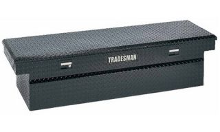 Tradesman Full size Deep Design Truck 70.25 in. Aluminum Cross Bed Tool Box   Black   Truck Tool Boxes
