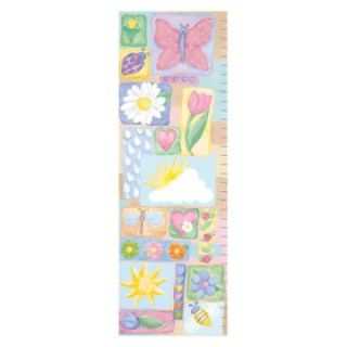 Makes A Garden Grow Growth Chart Wall Art   Kids and Nursery Wall Art