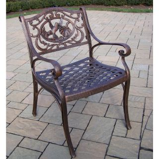 Oakland Living Hummingbird Cast Aluminum Arm Chair   Outdoor Dining Chairs