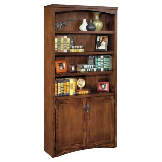 kathy ireland Home by Martin Mission Pasadena Wood Bookcase with Doors   Bookcases