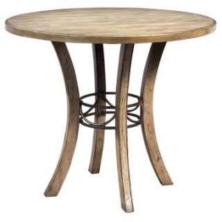 Hillsdale Charleston Round Wood Counter Height Table   Dining Tables