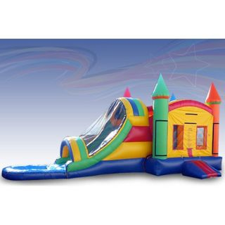 EZ Inflatables Rainbow Water Bounce House Combo   Commercial Inflatables