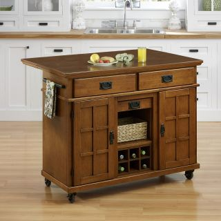 Home Styles Arts & Crafts Cottage Oak Kitchen Cart   Kitchen Islands and Carts