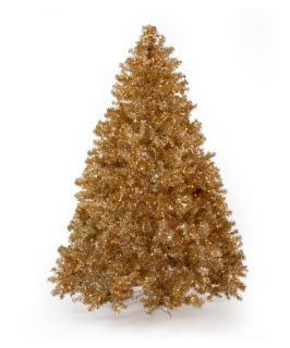 Classic Champagne Full Pre lit Christmas Tree   7.5 ft.   Clear   Christmas