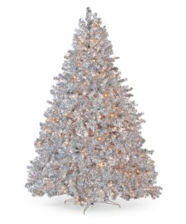 Classic Silver Full Pre lit Christmas Tree   7.5 ft.   Clear   Christmas
