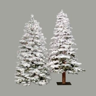 5 ft. Flocked Spruce Alpine Medium Pre lit Christmas Tree   Christmas Trees