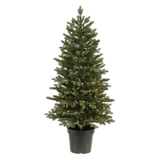 Potted Ottawa Pre lit Clear Christmas Tree   Christmas Trees