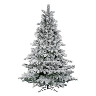 Flocked Aspen Pre lit Clear Christmas Tree   Christmas Trees