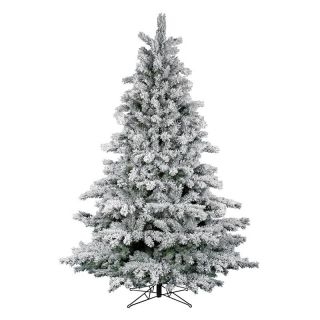 Flocked Aspen Unlit Christmas Tree   Christmas