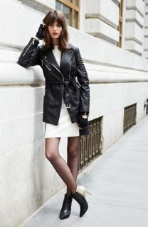 MICHAEL Michael Kors Belted Moto Jacket & Accessories
