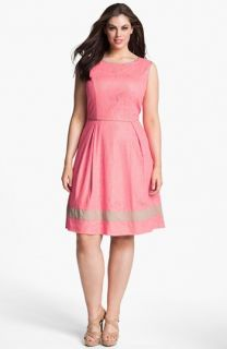 Jessica Simpson Lace Fit & Flare Dress (Plus Size)