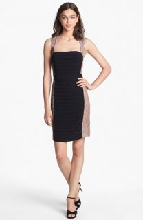 Hailey by Adrianna Papell Lace & Shutter Pleat Sheath Dress (Online Only)