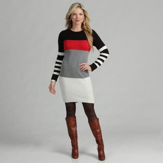 Jessica Howard Women's Colorblock Sweater Dress Jessica Howard Casual Dresses