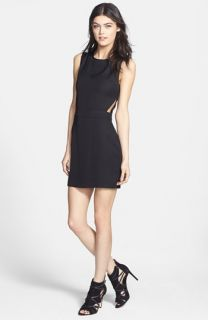 Line & Dot Cutout Sleeveless Dress