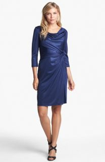 Adrianna Papell Draped Shimmer Jersey Dress