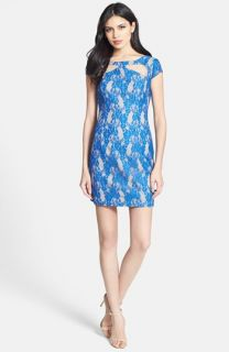Hailey by Adrianna Papell Cutout Lace Sheath Dress