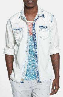 True Religion Brand Jeans Bleached Western Shirt